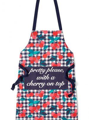 Cherry Print Apron