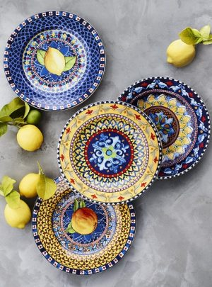 Sicily Mixed Salad Plates, Set of 4
