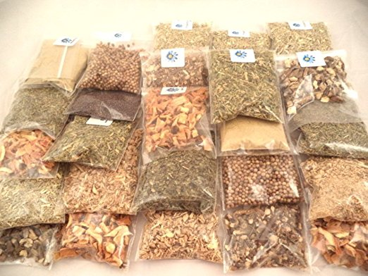 Sacred Tiger Culinary 20 Herb Kit in a Nice Storage Box Kitchen, Cooking, Seasoning, Spices