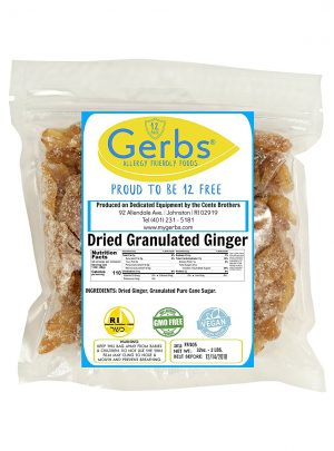 Dried Ginger, 2 LBS Granulated & Unsulfured by Gerbs – Top 12 Food Allergy Free & NON GMO – Product of Thailand