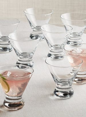 Boxed Cocktail Glasses, Set of 8